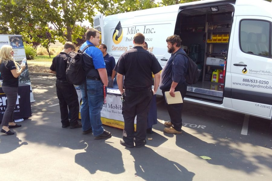 Managed Mobile Fleet Maintenance Connects with UTI Sacramento Students at Job Fair